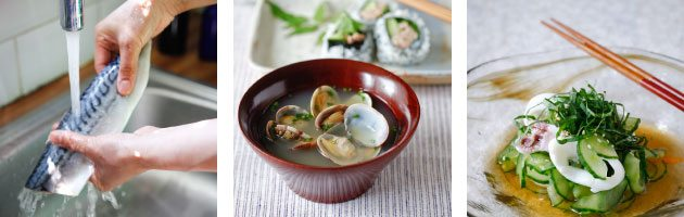 a cookery course in fish and seafood with Yuki's Kitchen