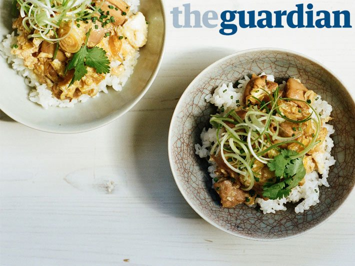 oyakodon recipe from the guardian's 10 best all day egg recipes