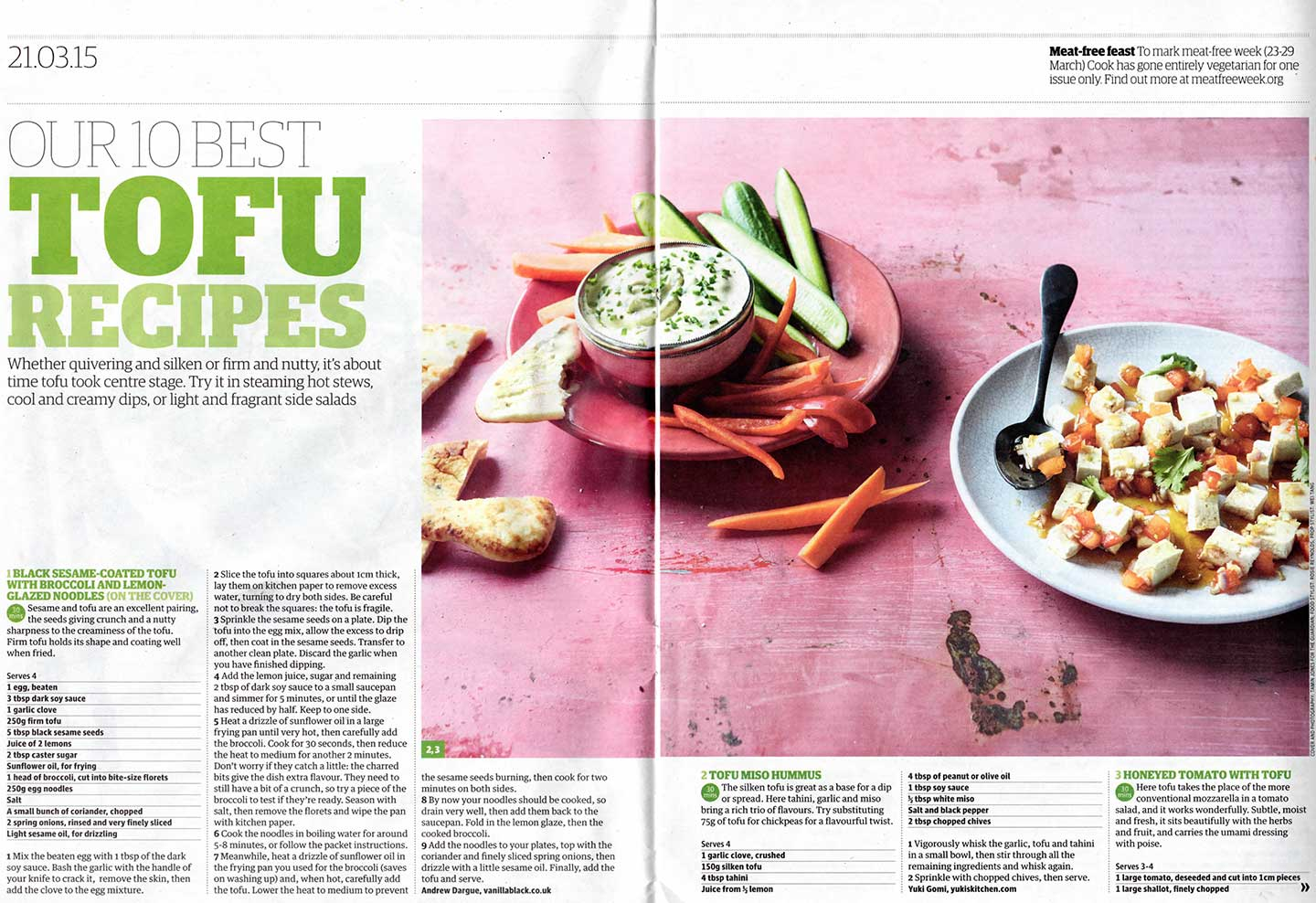 Guardian best tofu recipes tofu hummus yukis kitchen tofu hummus recipe as featured in the guardian forumfinder Image collections