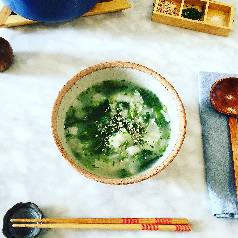 Nana Kusa Gayu - Seven Vegetable Japanese Rice Porridge