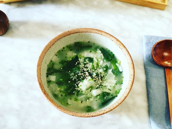japanese rice porridge nana kusa gayu served and ready for tasting