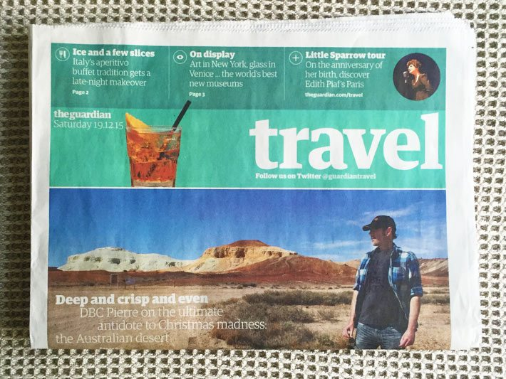 cookery school feature in the travel section of the guardian