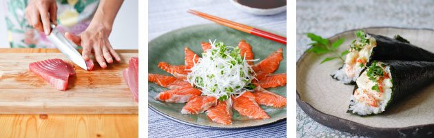 gourmet sushi and sashimi class with yuki's kitchen